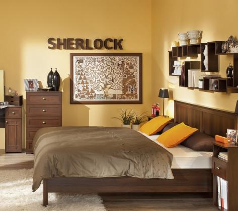 Кровать  Sherlock 44 орех