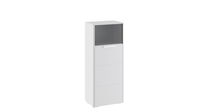 Шкаф комбинированный с 1-ой дверью «Наоми» Белый глянец