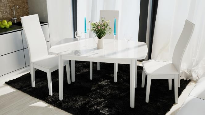 Стол обеденный «Портофино» белый