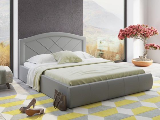 Кровать Виго серая