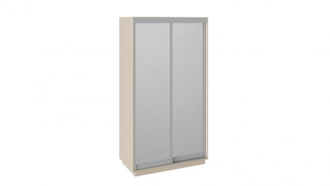 Шкаф-купе 2-х дверный «Румер» Дуб молочный, Зеркало/зеркало