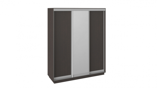 Шкаф-купе 3-х дверный «Румер» Венге, Венге/зеркало/венге