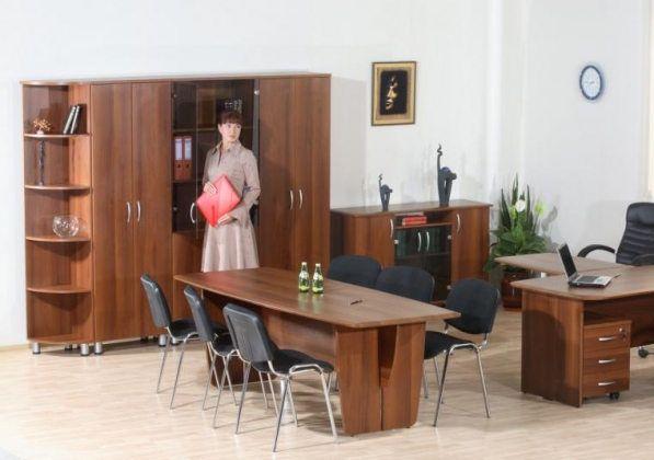 Кабинет руководителя с переговорной зоной Лидер-Люкс Набор 4