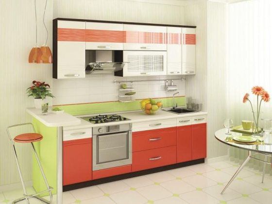Кухня 2,4 метра Оранж-9 Набор 3
