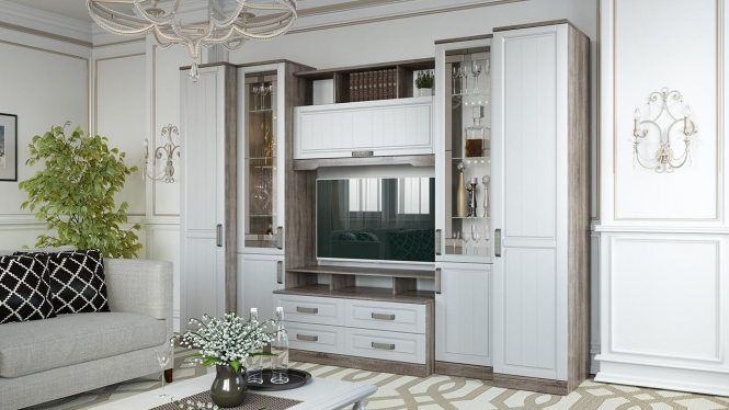 Набор мебели для гостиной «Прованс» №5 ГН-223.205